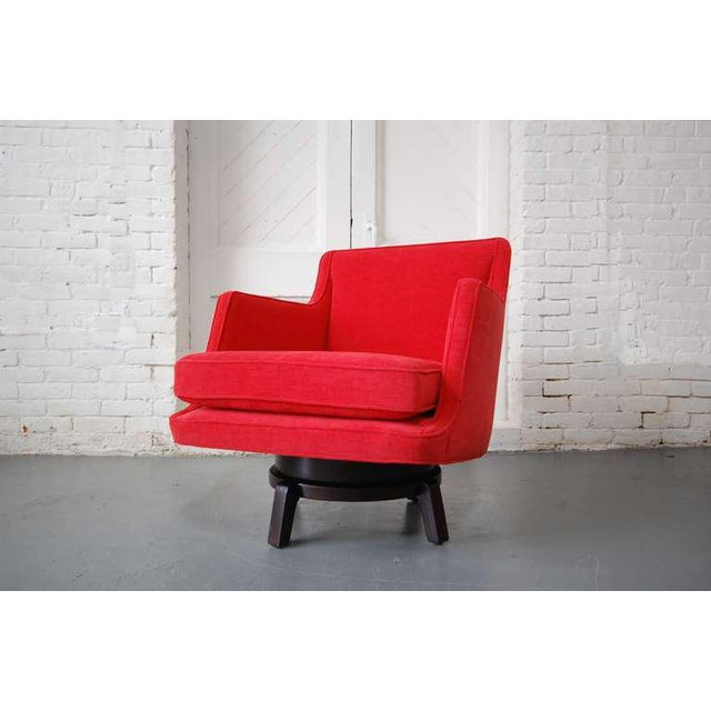 1960s Fully Restored Swivel Chair by Edward Wormley For Sale - Image 5 of 10