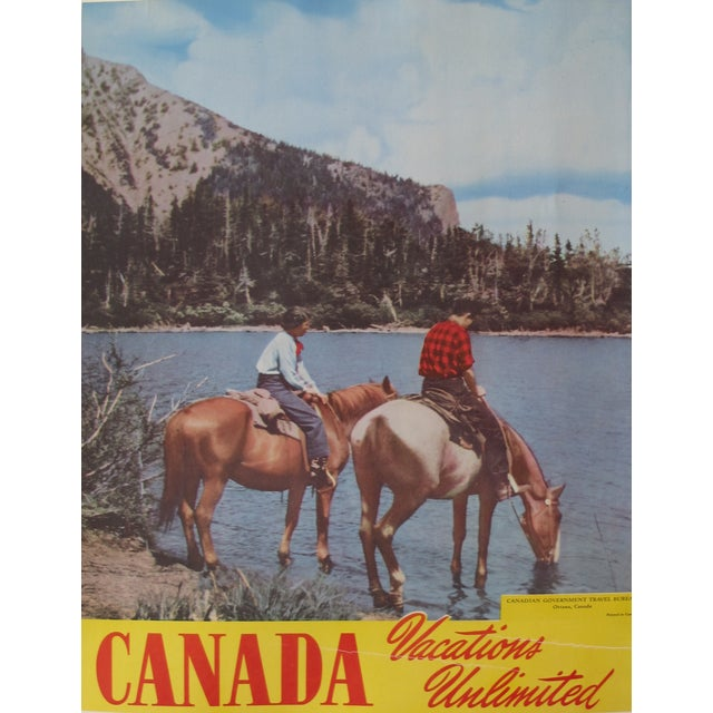 1950s Vintage Canadian Travel Poster - Image 1 of 3