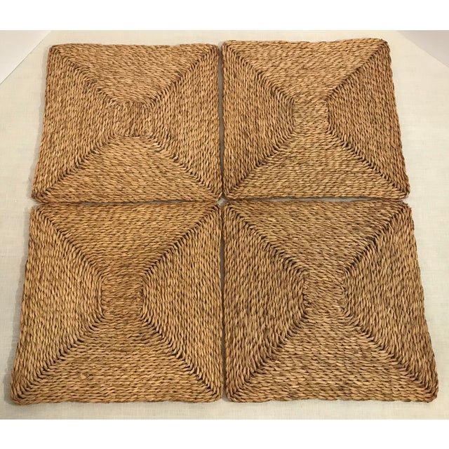 Vintage Woven Straw Placemats- Set of 4 For Sale - Image 4 of 7
