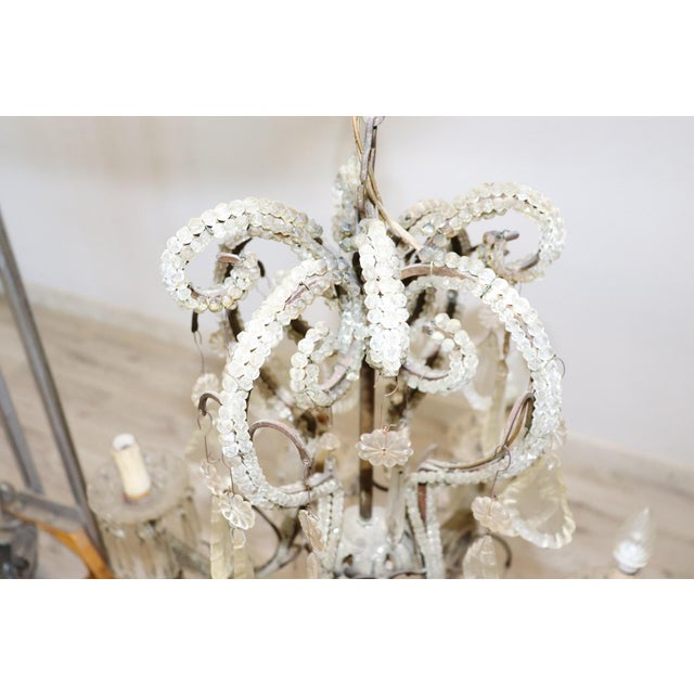 Bronze 19th Century Italian Louis XVI Style Bronze and Crystals Swarovski Chandelier For Sale - Image 7 of 9