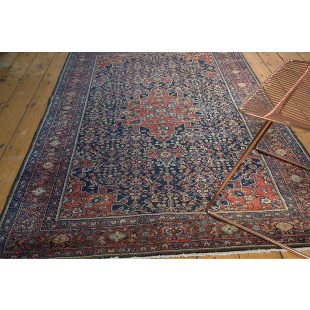 "Vintage Farahan Sarouk Rug - 4'3"" X 6'6"" For Sale - Image 4 of 11"
