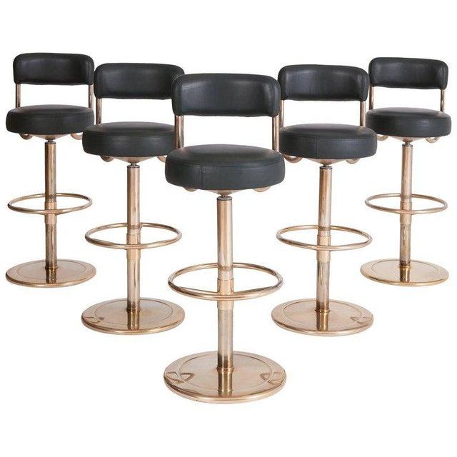 """Börge Johansson """"Jupiter"""" Bar Stools, Set of Five For Sale - Image 11 of 11"""