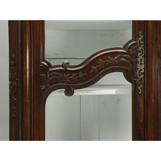 Antique French Walnut Armoire or China Cabinet For Sale - Image 11 of 13