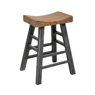 Sushi Stool With Industrial Iron Legs For Sale
