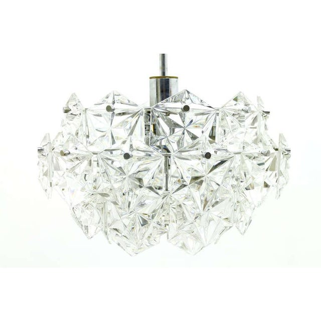 Four Tiers Crystal Glass Chandelier by Kinkeldey, 1960s For Sale - Image 6 of 6