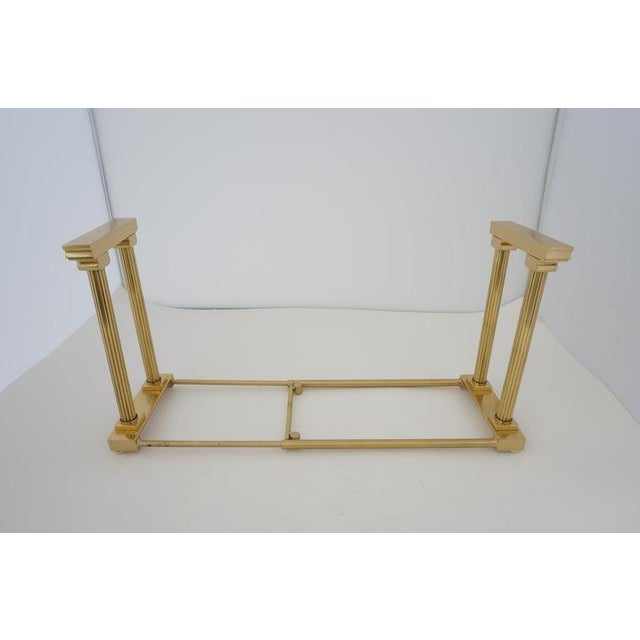 Mid-Century Adjustable Bookend Polished Brass Neoclassic Revival From Italy Book End For Sale - Image 11 of 12
