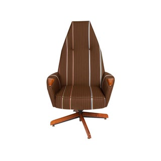 Adrian Pearsall for Craft Associates High Back Swivel Lounge Chair For Sale