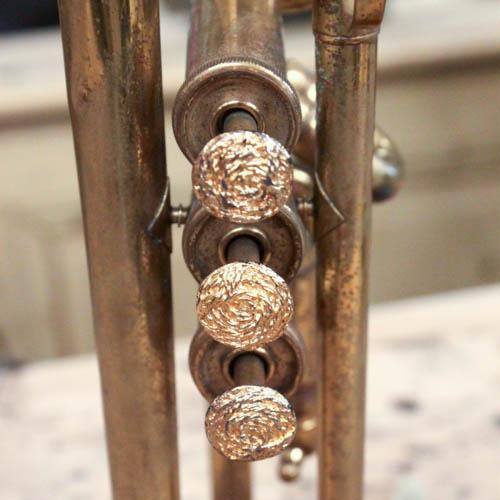 Vintage Brass Trumpet Lamp - Image 3 of 7