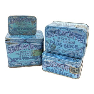 Vintage Edgeworth Tobacco Boxes - Set of 4 For Sale