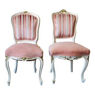 Victorian French Ivory Chairs - a Pair For Sale