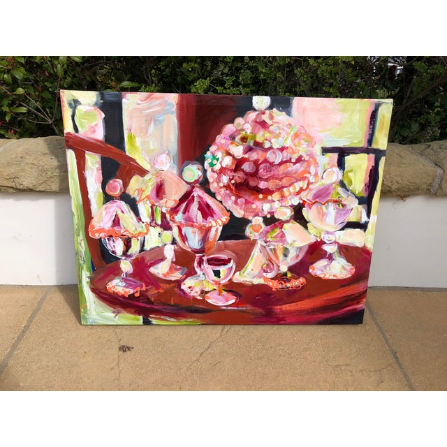 Abstract Candy Jar Oil Painting For Sale - Image 9 of 9