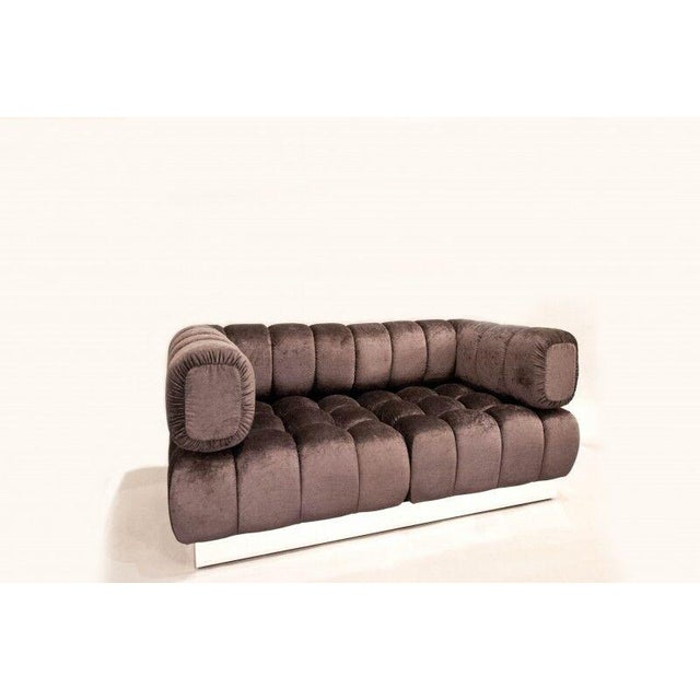 2015 USA Todd Merrill Custom Original The Extended Back Tufted Sectional For Sale - Image 10 of 11