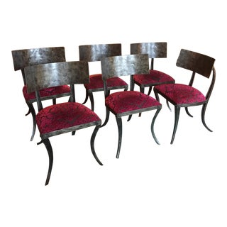 Modern Ched Berenguer-Topacio Klismos Style Hand-Forged Iron Chairs - Set of 6