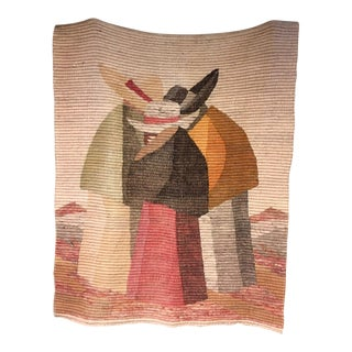 Peruvian Handmade Wool Tapestry / Throw For Sale