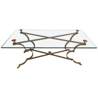 A Gilt Brass and Iron Neoclassical Style Low or Coffee Table For Sale