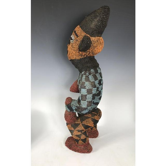 African Tribal Bamileke Beaded Statue - Image 6 of 6
