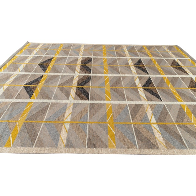 Textile 21st Century Modern Scandinavian Style Flat-Weave Rug For Sale - Image 7 of 12