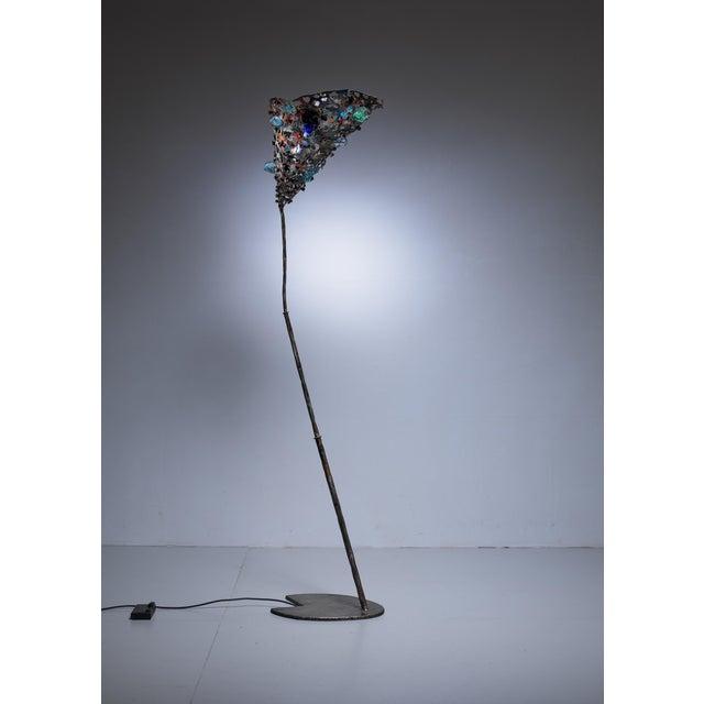 Salvino Marsura unique floor lamp, Italy, 1980s For Sale - Image 4 of 7