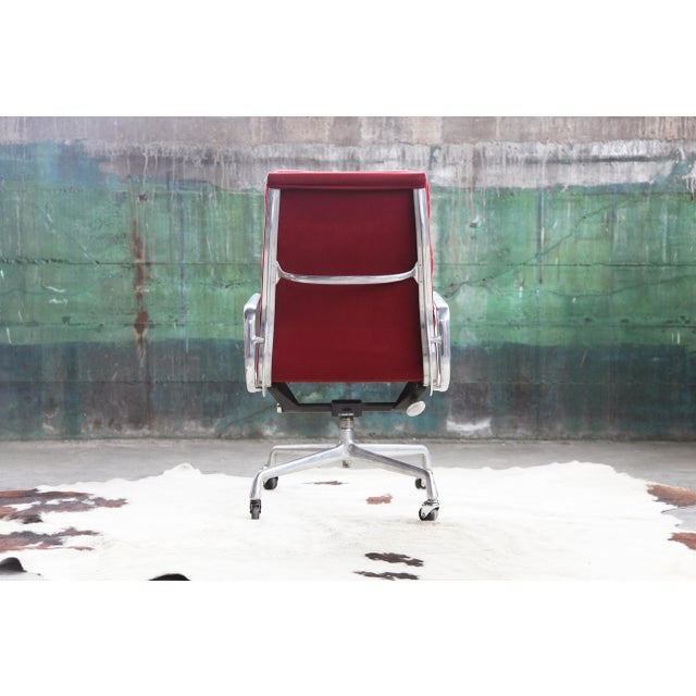 1980s Eames Herman Miller Aluminum Soft Pad Reclining Executive Office Chair For Sale - Image 11 of 13