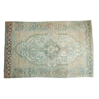 "Vintage Distressed Malayer Carpet - 5'2"" X 8'"