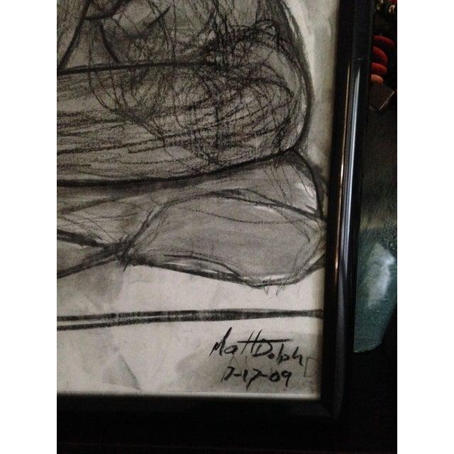 Original Framed Charcoal Nude Sketch - Image 4 of 4
