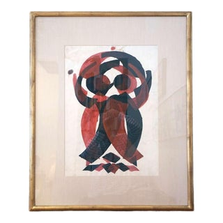 Irving Lehman Modernist Original Work on Paper
