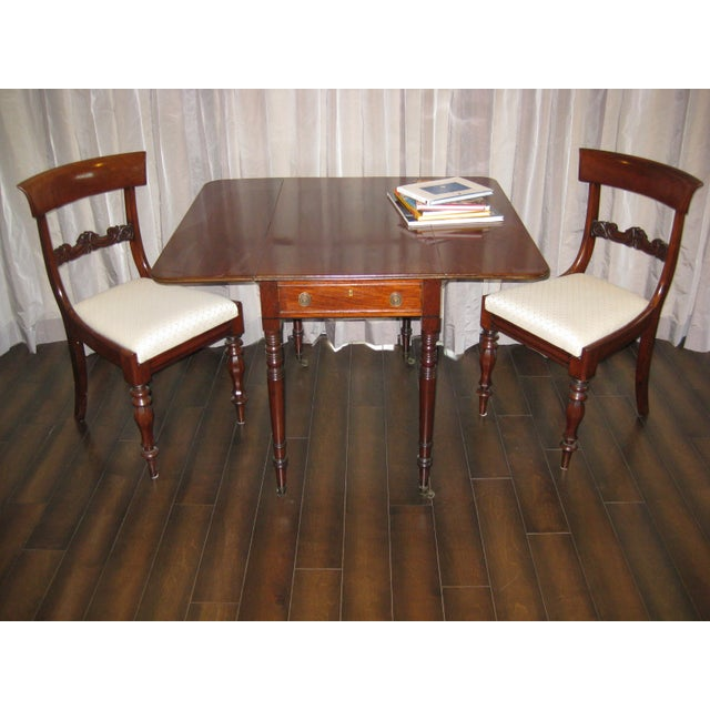 Regency Mahogany Side Chairs - A Pair - Image 3 of 4