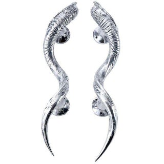 Large Metal Horn Door Handles - a Pair For Sale