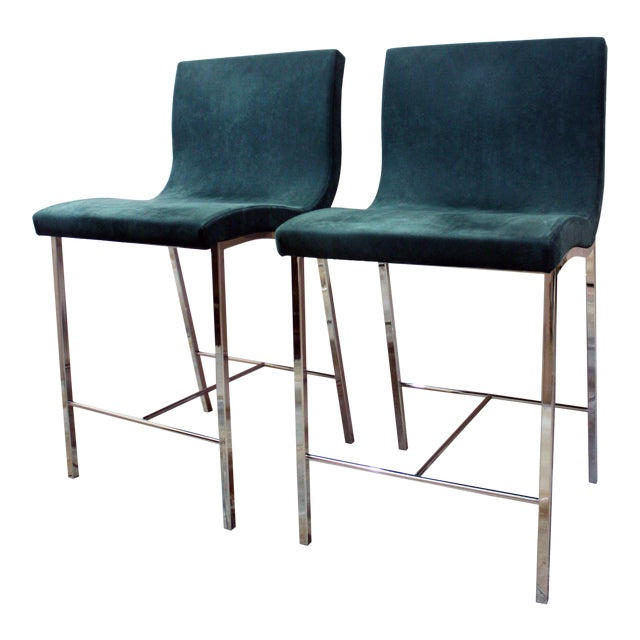 Modern Ligne Roset Counter Stools - a Pair For Sale