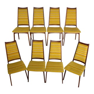 Mid-Century Modern Danish Dining Chairs - Set of 8