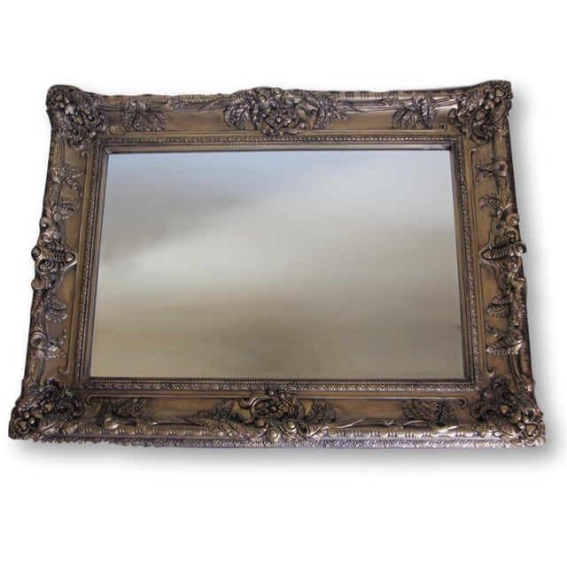 Hand Painted Burnished Gold Traditional Mirror - Image 2 of 7