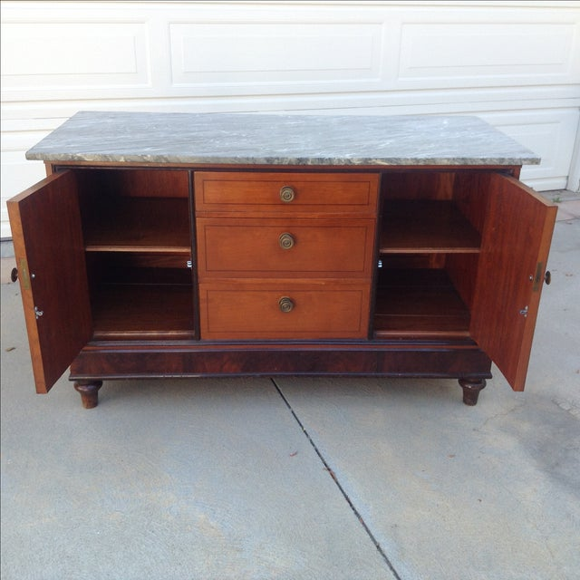 Vintage Victorian Marble Top Lowboy Chest - Image 3 of 3