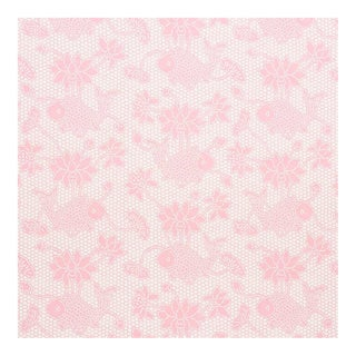 Sample - Schumacher Lotus Batik Wallpaper in Pink For Sale