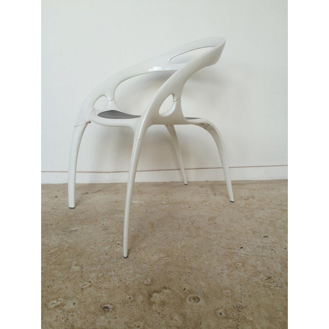 "Ross Lovegrove White Lacquer ""Go"" Chair - Image 2 of 6"