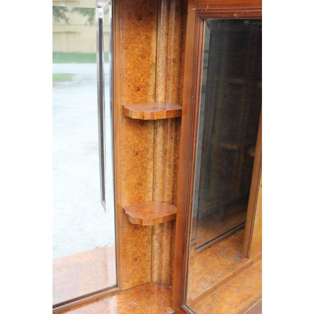 Monumental French Art Deco Burl Amboyna Vanity Armoire Circa 1940s - Image 8 of 8