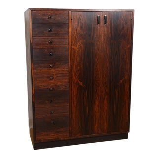 Harvey Probber Modernist Rosewood Tall Dresser / Gent's Chest For Sale