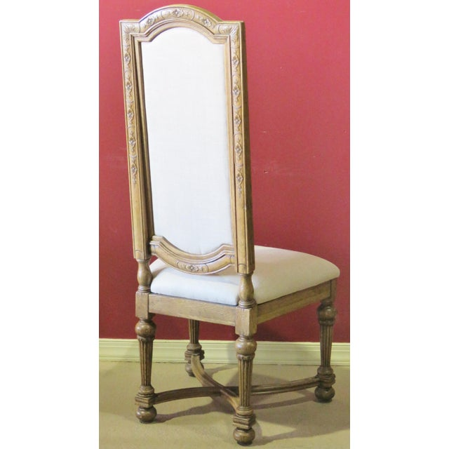 Jonathan Charles Highback Dining Chairs - Set of 8 - Image 3 of 6