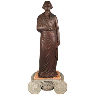 19th Century George Washington Cast Iron Stove Figure For Sale