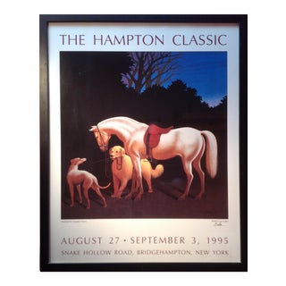 The Hampton Classic Poster 1995 by Lynn Curlee For Sale