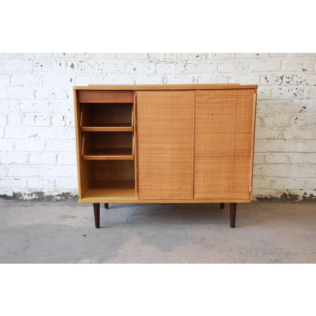 Edward Wormley for Dunbar Woven Front Cabinet For Sale - Image 5 of 11