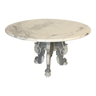 Italian Baroque Style Dining Room Table For Sale