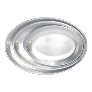 Swedish Modern Metal Tray Set - Set of 3 For Sale