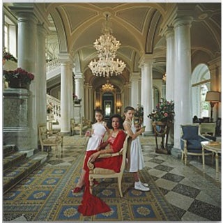 "Slim Aarons ""Droulers and Daughters"" Print For Sale"