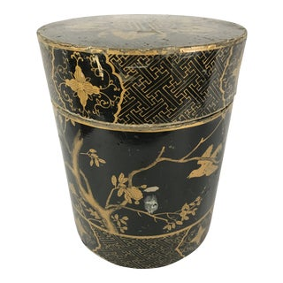 Chinese Lacquered Paper Mache Box For Sale