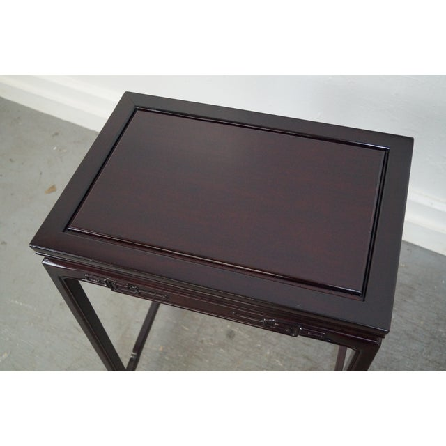 Chinese Rosewood Nesting Tables - Set of 4 For Sale - Image 9 of 9