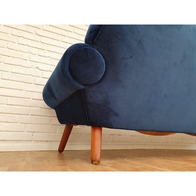 Blue 1960s Vintage Kurt Østervig Danish 3 Seater Sofa For Sale - Image 8 of 13