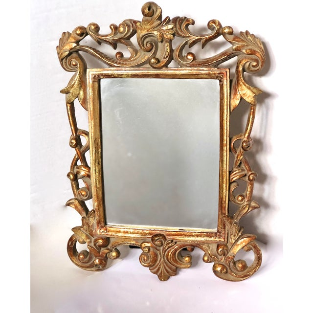 Baroque Italian Baroque Gold Gilt Mirror For Sale - Image 3 of 5