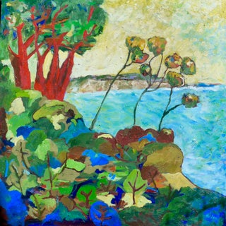 Contemporary Painting, Santa Barbara Summer Seascape For Sale