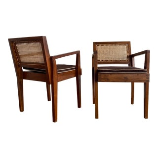 Pierre Jeanneret Arm Chairs - a Pair For Sale