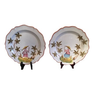 Chelsea House Porcelain Plates - a Pair For Sale